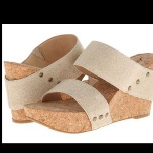 Lucky Brand Canvas Cork Wedges